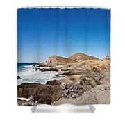 Hacienda Cerritos On The Pacific Ocean Shower Curtain