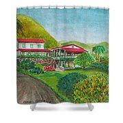 Hacienda Gripinas Old Coffee Plantation Shower Curtain