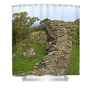 Hadrian's Wall Near Walltown Quarry Shower Curtain
