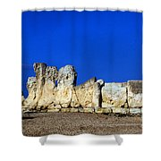 Hagar Qim Stone Temple, Malta Shower Curtain