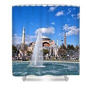 Haghia Sophia Fountain Shower Curtain