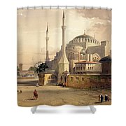 Haghia Sophia, Plate 17 Exterior View Shower Curtain by Gaspard Fossati