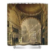 Haghia Sophia, Plate 24 Interior Shower Curtain by Gaspard Fossati