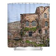 Hagia Irene Mosque Panorama Shower Curtain
