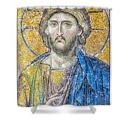 Hagia Sofia Jesus Mosaic Shower Curtain by Antony McAulay