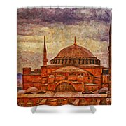 Hagia Sophia Digital Painting Shower Curtain