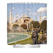 Hagia Sophia Editorial Shower Curtain by Antony McAulay