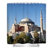 Hagia Sophia Mosque Landmark In Instanbul Turkey Shower Curtain