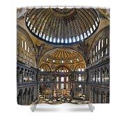 Hagia Sophia Museum In Istanbul Turkey Shower Curtain
