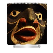 Haida Carved Wooden Mask 5 Shower Curtain
