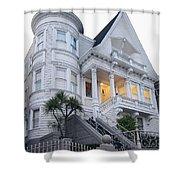 Haight Ashbury White Home Shower Curtain