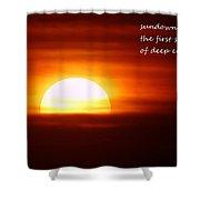 Haiku Sundown Shower Curtain