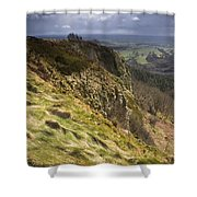 Hailstorm In The Distance Shower Curtain