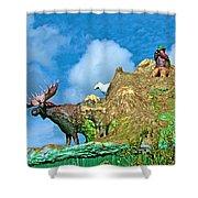Haines Junction Landmark-yt Shower Curtain