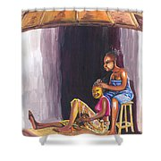 Hair Dresser In Rwanda Shower Curtain