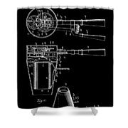 Hair Dryer 2 Patent Art 1911 Shower Curtain
