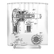 Hair Dryer 3 Patent Art 1931 Shower Curtain