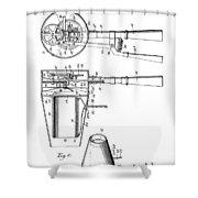 Hair Dryer 4 Patent Art 1911 Shower Curtain