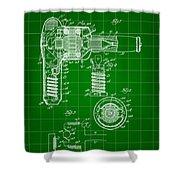 Hair Dryer Patent 1929 - Green Shower Curtain