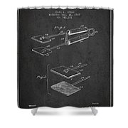 Hair Straightener Patent From 1909 - Charcoal Shower Curtain