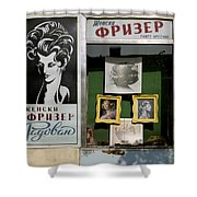 Hairdresser. Belgrade. Serbia Shower Curtain