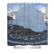 Hairpin Bend With Snow Shower Curtain