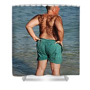 Hairy Ocean Shower Curtain