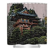 Hakoni Tea House Shower Curtain