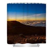 Haleakala Burst Shower Curtain