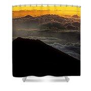 Haleakala Hawaii Sunrise Cloudscape  Shower Curtain