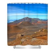 Haleakala Lava Cones Shower Curtain