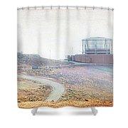 Haleakala Observatories Shower Curtain
