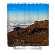 Haleakala Observatory In Maui. Shower Curtain