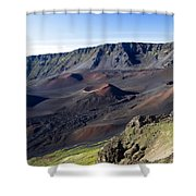 Haleakala Sunrise On The Summit Maui Hawaii - Kalahaku Overlook Shower Curtain by Sharon Mau