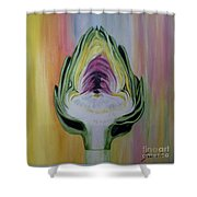 Half Artichoke Shower Curtain