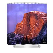Half Dome Alpen Glow Shower Curtain