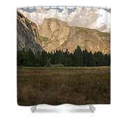 Half Dome And The Yosemite Valley Shower Curtain
