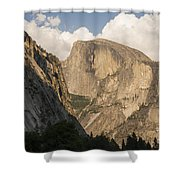 Half Dome As The Sun Drops In The Sky Shower Curtain