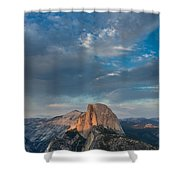 Half Dome Evening Shower Curtain