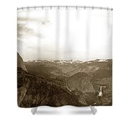 Half Dome From Glacier Point Yosemite Valley  California Circa 1910 Shower Curtain