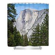 Half Dome In Spring In Yosemite Np-2013 Shower Curtain