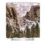 Menacing Rocks Shower Curtain