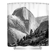 Half Dome North Side Shower Curtain