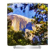 Half Dome Opus I Shower Curtain