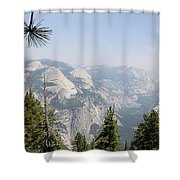 Half Dome Panorama View Shower Curtain