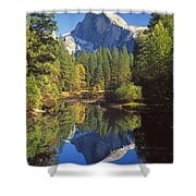 2m6709-half Dome Reflect - V Shower Curtain
