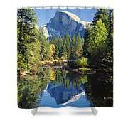 2m6708-half Dome Reflect Shower Curtain