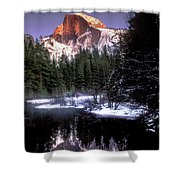 Half Dome Reflection Yosemite National Park California Shower Curtain