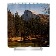 Half Dome Spring Shower Curtain by Bill Gallagher