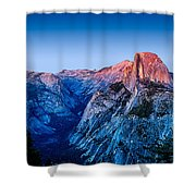 Half Dome Twilight Shower Curtain